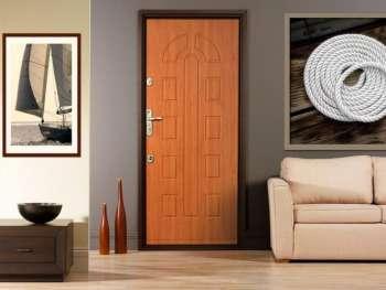 общий дизайн квартиры и входная дверь