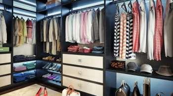 Как может выглядеть гардеробная комната