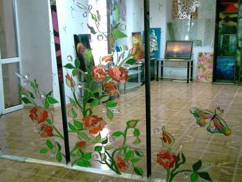 Рисунок на зеркале